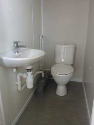 Small Toilet Install with Basin